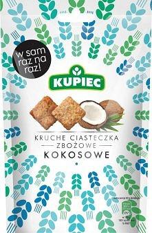 Kruche ciasteczka zbożowe firmy KUPIEC - kokosowe. Idealna porcja na raz :)