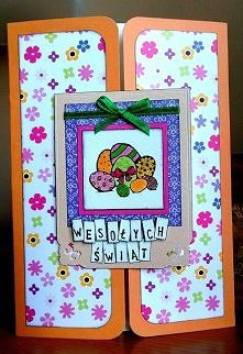 pink orange - gate card large