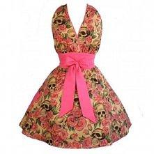 sukienka vintage, skull