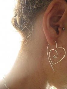 inspiracja - kolczyki w kształcie serca