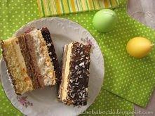 Ciasto bakaliowe, kolorowe :)  Składniki biszkopt jasny: 6 jajek 1 szklanka c...