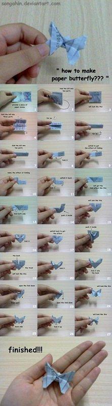 papierowy motylek :)