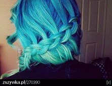 niebieskie włoski <3
