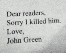 myślę, że śmierć Augustusa była potrzebna, żeby lepiej zrozumieć sens książki