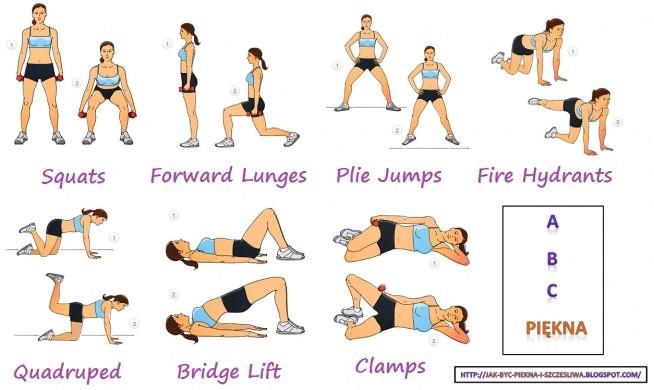 Najlepsze i skuteczne ćwiczenia kształtujące uda oraz pośladki.