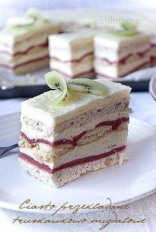 Ciasto truskawkowo - migdał...