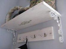 półka DIY do przedpokoju