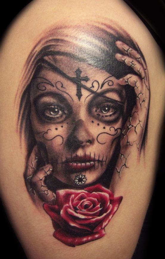 Santa Muerte Na Tatuaże I Pircing Zszywkapl