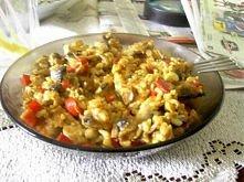 Risotto - nie wygląda tak samo świetnie jak smakuje :D Ryż brązowy, pieczarki...