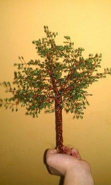 moje drzewko z koralików :>