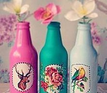 pastelowe butelki