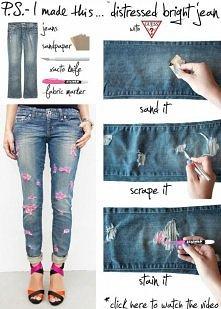 jak zrobić poszarpane spodnie