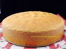 biszkopt - przepis bazowy (podwójnie rzucany)   4 jaja 130 gramów mąki pszennej tortowej 130 gramów mąki ziemniaczanej 2 łyżeczki proszku do pieczenia ( 1 pełna, druga płaska) 2...