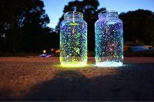 fluo-farba - gwieździste niebo zamknięte w słoiku :)
