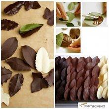 Listki z czekolady