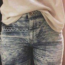 Co powiecie na takie spodnie? Ciekawy wzór.