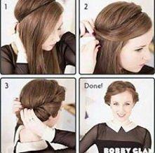 Prosta, ale zarazem i efektowna fryzura.