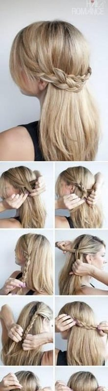 piękna fryzurka znaleziona w internecie :)) - krok po kroku