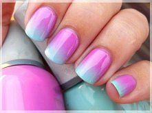 Piękne paznokcie ombre <33
