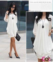Biała sukienka z jedwabiu
