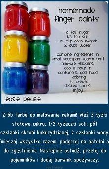 Farba do malowania dłońmi ;)