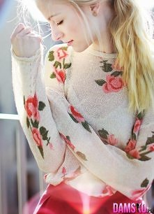 sweter floral <3
