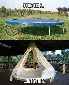 gdy dzieci wyrosły z trampoliny ;)