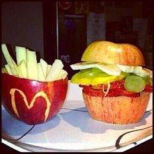 Owocowa wersja frytek i hamburgera ;))