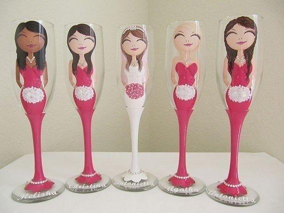 Super pomysł na ślubne kieliszki