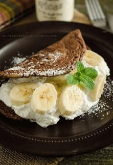Omlet czekoladowy <3  Klik w zdjęcie, żeby zobaczyć przepis!