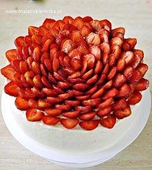 Tort truskawkowy.Przepis po kliknięciu w zdjęcie.