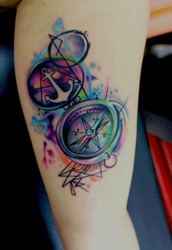 Kotwica I Kompas Tatuaż Na Wzory Tatuaży Zszywkapl