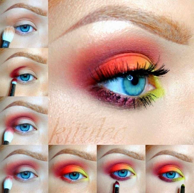 Rainbow opis do tutorialu na kitulec beauty blog