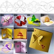 DIY 3D kartki z szablonami