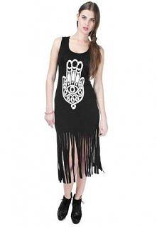 Chamsa - sukienka z ręką Fatimy, frędzle