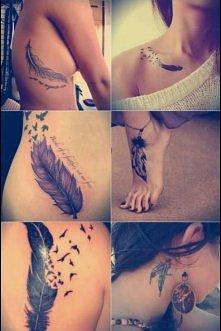 piórkowe tatuaże :)