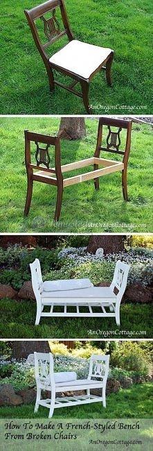 oryginalna ławka ogrodowa