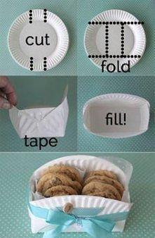 Jak w łatwy sposób zrobić ładne pudełko na ciasteczka z plastikowego talerzyka