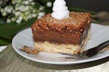 Placek z kremem czekoladowym i kokosem  Składniki: Ciasto: • 50 g masła • 120...