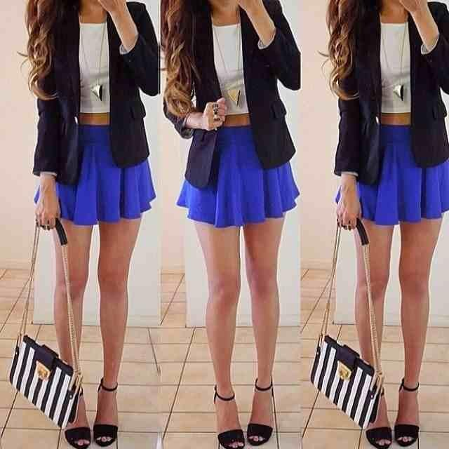 Too short skirt :/