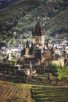 Średniowieczny Zamek, Cochem, Niemcy