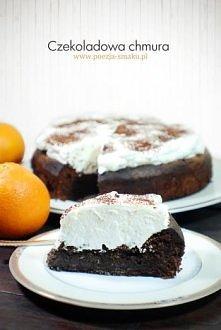 Czekoladowa chmura Zdecydowanie to ciasto dla fanów ciemnej, wytrawnej czekolady. Czekoladowa chmuraSpód chmury jest mocno czekoladowy, dość ciężki, mazisty, słodki, z akcentem ...