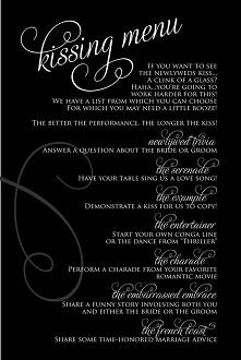kissing menu :)