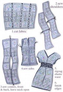 prosty sposób na sukienke