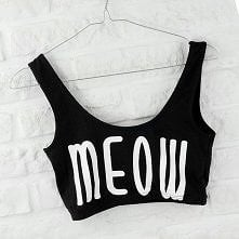 czarny top meow  jakby ktoś...