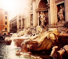Fontana di Trevi, Nicola Salvi, Roma.