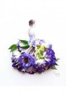 Kobieta i kwiaty