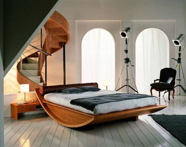 Piękne Drewniane Schody I Ciekawy Projekt łóżka Na