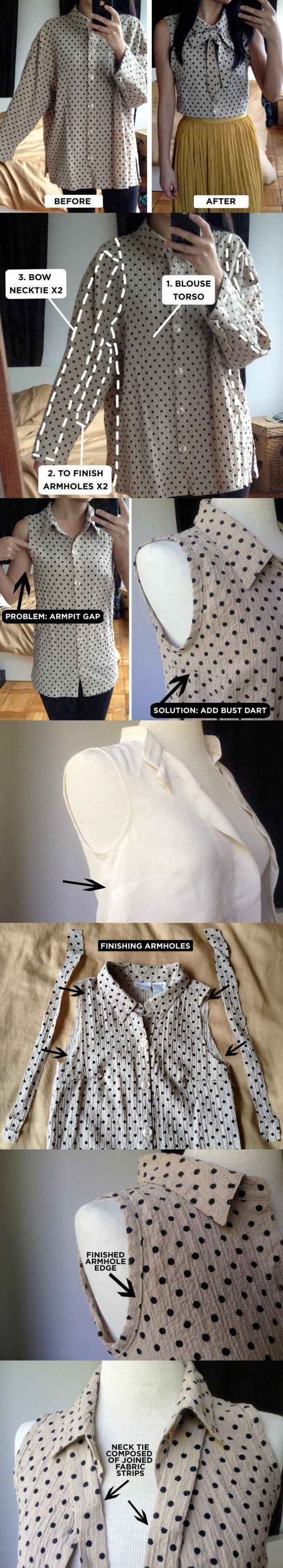DIY - zrób to sam - przeróbka starej koszuli