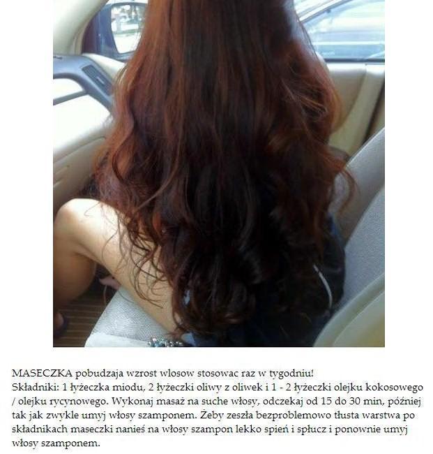 maseczka na porost włosów z miodem